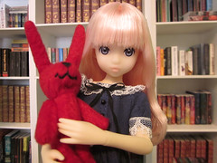 The new library is coming along (MurderWithMirrors) Tags: rabbit doll library books mwm azone petworks ruruko fresh1605