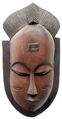 10Y_0891 (Kachile) Tags: art mask african tribal côtedivoire primitive ivorycoast gouro baoulé nativebaoulémasksaremainlyanthropomorphicmeaningtheydepicthumanfacestypicallytheyarenarrowandfemininelookingincomparisontomasksofotherethnicitiesoftenfeaturenohairatallbaouléfacemasksaremostlyadornedwithvarioustrad