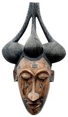 10Y_0894 (Kachile) Tags: art mask african tribal ctedivoire primitive ivorycoast gouro baoul nativebaoulmasksaremainlyanthropomorphicmeaningtheydepicthumanfacestypicallytheyarenarrowandfemininelookingincomparisontomasksofotherethnicitiesoftenfeaturenohairatallbaoulfacemasksaremostlyadornedwithvarioustrad