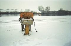 Itzehoe (Der Ohlsen) Tags: schnee winter snow colour film analog 35mm river germany deutschland harbour hafen fluss kb schleswigholstein itzehoe stör c41 kodakgold200 jellycam