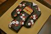 Kimono Cake (Kathy-Cakes) Tags: flowers red white black cake with kimono blackkimono kimonocake