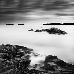"""Channeled"" - Create With Light Photography  (grantmurrayphotography) Tags: longexposure sunset sky blackandwhite canada nature vancouver clouds landscape britishcolumbia vancouverisland tofino streaks seashore seastacks tonquinbeach britishcoulmbia absoluteblackandwhite grantmurray createwithlightphotography wildpacificcoast"
