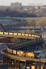 Eastbound UP Loaded Coal Train at Kansas City, MO (Mo-Pump) Tags: railroad train locomotive railfan railroader