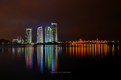 Putrajaya @ Night | 4 Brothers (mozakim) Tags: lighting light lake colour reflection water night landscape nightscape nightscene colourful putrajaya hdr malam zaki pemandangan tasik warna lanskap warnawarni 5exps pusatmaritimputrajaya mozakim