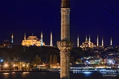 _-ı_ı-ı_ı_I_ı_ıı-ıı_ı_ (Yavuz Alper) Tags: blue night one 1 nikon istanbul mavi bir yavuz minarets sultanahmet mimari gece camii ayasofya minare kubbe eminönü theone sirkeci turistik haliç kasrı gülhane sepetçiler minareler ayairini d7000