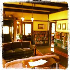 The living room of the Grace Huson Sun House (radiowood) Tags: california square craftsman williammorris ukiah artsandcraft sunhouse gracehudson iphoneography