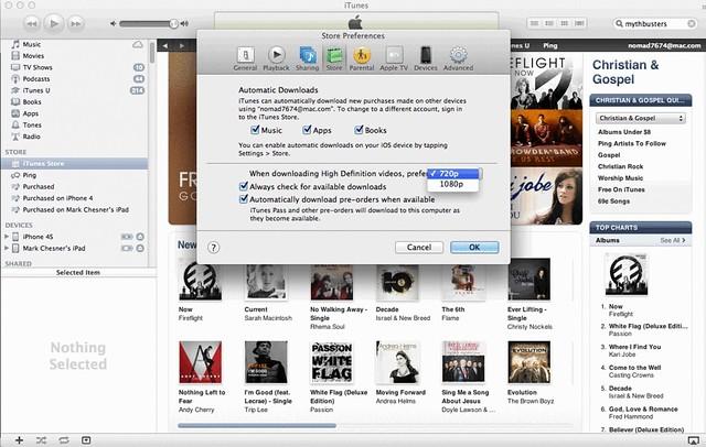 720p vs 1080p in iTunes
