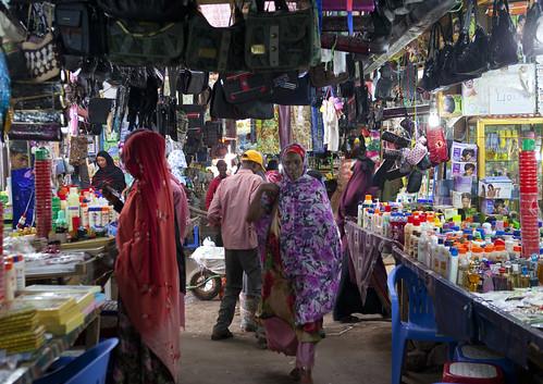 Customers At Hargeisa Market, Somaliland