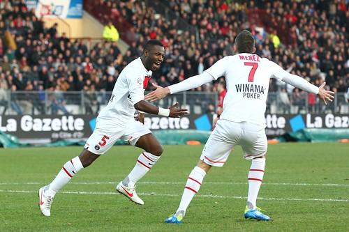 Siaka Tiéné heureux après son but