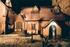 leatherhead parish church in the snow (paul messerschmidt (europe)) Tags: door uk winter england snow church window parish night dark evening north entrance surrey porch northside 2009 floodlight floodlit dormer leatherhead churchroad dormerwindow stmaryandstnicholas 122009 stmarystnicholas 20093431
