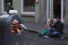 St Patrick's Day bin overflow (Esther Molin) Tags: street ireland people dublin candid bin rubbish waste templebar stpatricksday