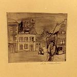 "<b>Untitled (Street Scene)</b><br/> Frans Wildenhain ""Untitled (Street Scene)"" Etching, 1933 LFAC # 771<a href=""http://farm8.static.flickr.com/7208/6852375169_f66b26b3e3_o.jpg"" title=""High res"">∝</a>"