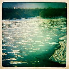 Elbe im Eis-Fluss