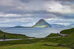 Velbastaur, Faroe Islands, Denmark (**Anik Messier**) Tags: landscape denmark islands rainbow faroeislands panoramicview faroes hestur kingdomofdenmark koltur elevatedview anawesomeshot hestsfjrur streymoyisland velbastaur anikmessiercopyright velbastaour hestsfjorour
