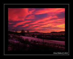 Lier Norway (nora2810) Tags: sunset colour nature beautiful norway norge lier buskerud fujifilmfinepixs9500