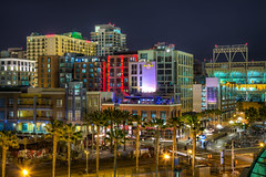 Central Gaslamp (Justin in SD) Tags: night canon lights hotel downtown tour sandiego tourist sd gaslamp convention canon5d hdr gaslampdistrict downtownsandiego nightdark 5dmkiii canon5dmarkiii 5d3