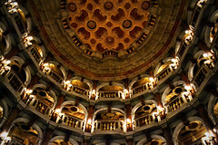Bibiena theatre (Giulia van Pelt) Tags: wood italy teatro lights theater italia theatre ceiling mantova mantua legno lodges scientific accademia soffitto logge scientifico bibiena virgiliana