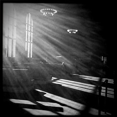 Light in the Poughkeepsie Train Station (Katy Silberger) Tags: poughkeepsieny holgalens poughkeepsietrainstation poughkeepsierailroadstation hipstamatic ipad2 blackkeyssupergrain