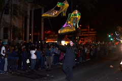 Shoe Totems in the Krewe of Muses 2012 Parade