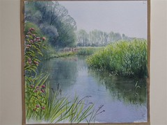 "Trap Grounds pond, painted by Valerie Petts • <a style=""font-size:0.8em;"" href=""http://www.flickr.com/photos/60890513@N06/6893117680/"" target=""_blank"">View on Flickr</a>"
