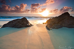 miami beach (Pawel Papis Photography) Tags: ocean morning sky cloud seascape reflection nature rock sunrise sand miami wave australia goldcoast