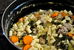 hearty italian wedding soup (The Red Spoon) Tags: winter soup italian pasta meat swisschard