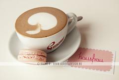 Hausfrau Hot Chocolate & Macaron (Naomi Rahim (thanks for 5 million visits)) Tags: pink cafe beverage melbourne hotchocolate albertpark hausfrau macaron foodphotography nikond60