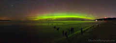 Good Harbor Bay ... aurora borealis panorama (Ken Scott) Tags: winter usa michigan lakemichigan greatlakes february 2012 freshwater voted leelanau goodharborbay sbdnl sleepingbeardunenationallakeshore mostbeautifulplaceinamerica panoramanorthernlights