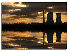Richborough reflections ......... [EXPLORE] (pete stone) Tags: sunset reflection water silhouette wow kent sandwich derelict canoneos5d sunsettime cloudsandsky richboroughpowerstation skyascanvas