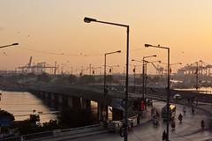 Sunset at Karachi Port (Saifuddin Abbas) Tags: pakistan sunset port karachi karachiport