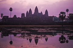Angkor Wat at Dawn (daniel.frauchiger) Tags: reflection cambodia khmer angkorwat