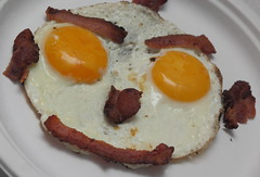 """Happy"" Meal redux (Just George 2) Tags: yellow breakfast bacon egg humor explore happymeal smileyface 580exiispeedlite"