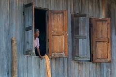 Woman at the Window, Lake Inle (Peter Cook UK) Tags: woman window burma shutters lakeinle myanamr