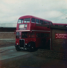 RT 3310 leaving Aldenham 1968 (RM349) Tags: bus london regent rt 3310 aldenham aec