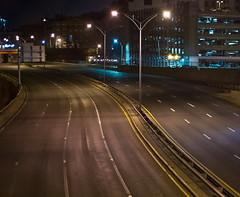(Hollis Johnson) Tags: road street boston highway streetlights empty masspike deserted
