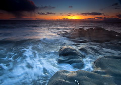 Sunset Swirl (PeterYoung1) Tags: sunset seascape water clouds scotland seaside colours scenic