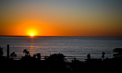 Del Mar Sunset. (AESDUB) Tags: ocean california sunset sun beach water set del mar san bue diego aesdub