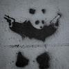 save the pandas (natedregerphoto) Tags: bw usa graffiti iso200 utah stencil nikon panda guns stgeorge lightroom favorited d90 35mmequiv 0mmf0