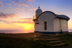 Sunrise in Port MacQuarie (rsusanto) Tags: ocean sun lighthouse beach sunrise australia newsouthwales portmacquarie tackingpoint