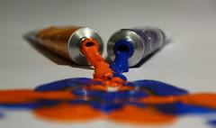 365:78  Blue and Orange Combination (Nadine Bekavak) Tags: color colour art paint 365 combination
