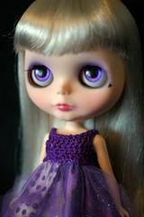 Aces Wild Custom #57 ~ Handpainted Purple Eyes   328/365 BL♥VED