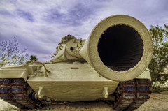M60A1 (BlackRockBacon) Tags: california photoshop big gun tank 1950s cannon hdr rifling photomatix generalpattonmuseum