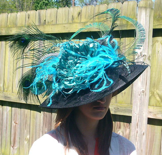 black downbrim KENTUCKY DERBY Hat