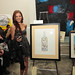 Artist Andrea Whitt with her Jordan Winery 4 on 4 LA Art Competition entry, \