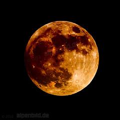 Lava Moon - expl..112 (alpenbild.de) Tags: moon nature night bayern bavaria mond nacht natur  chiemgau aschau alpenbildde