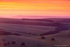 Sussex Sunrise (Nick Dautlich) Tags: uk england sky sunrise landscape sussex countryside scenery britain hills landscapeuk