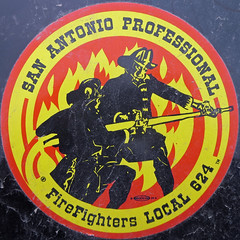 Fire fighters decal - San Antonio Professional FireFighters Local 624 - squared circle (Monceau) Tags: squaredcircle decal squircle firefighters sanantonioprofessionalfirefighters
