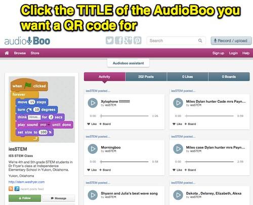 Audioboo QR Code: Step 1 by Wesley Fryer, ...