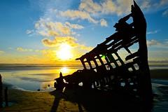 Peter Iredale Shipwreck (charis189) Tags: ocean sun beach clouds oregon peter shipwreck astoria iredale
