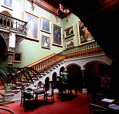 Happy Stairs for Saturday - Tyntesfield - Away for about a week. (stepheneverettuk) Tags: uk england southwest stairs canon table chairs pillar paintings piano palm tyntesfield wraxall efs1022mmf3545usm 60d gradeilistedbuilding steveeverett hsfs nrbristol victorianneogothic happystairsforsaturday
